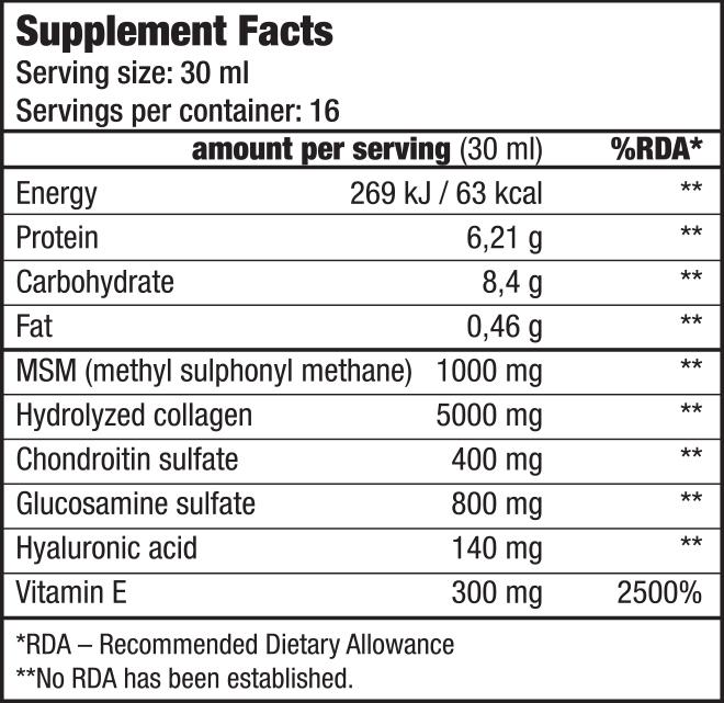 Arthro Guard italpor glükózaminnal, kondroitinnal, MSM-mel - BioTechUSA